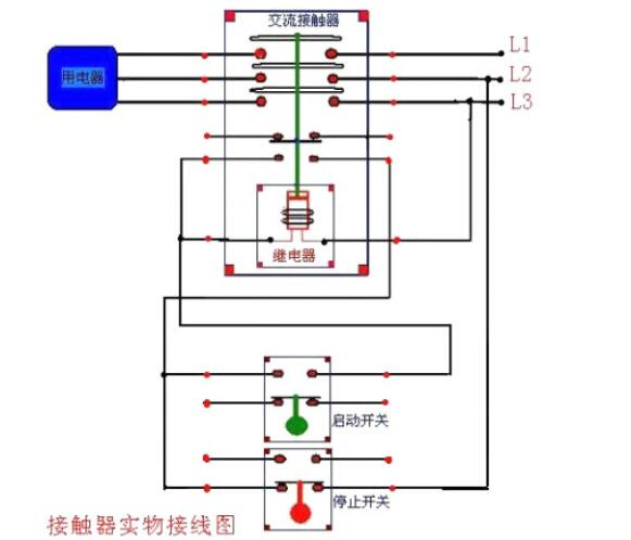 电磁接触器接线方法