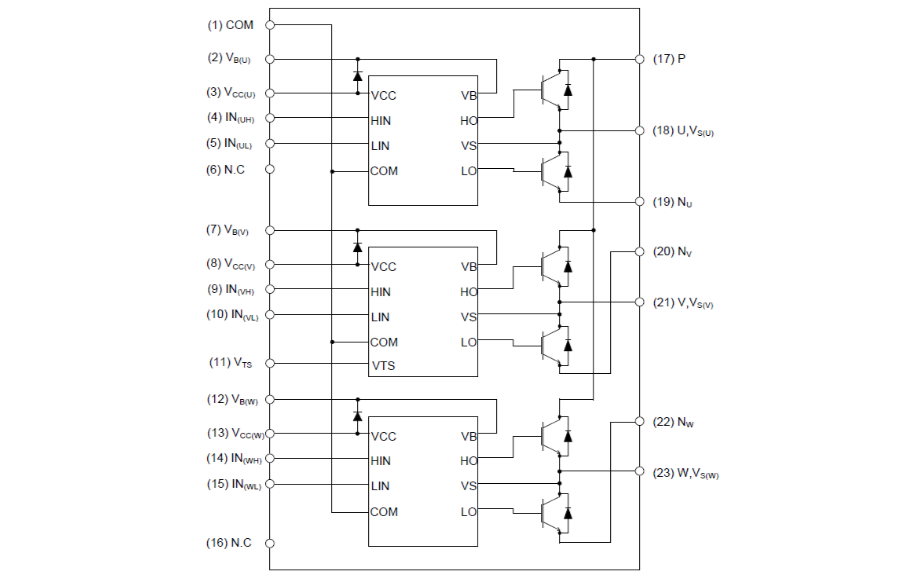 XNS50660AB和XNS50660ABS智能功率模块的详细资料说明
