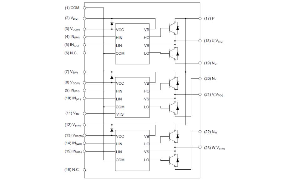 XNS50660AB和XNS50660ABS智能功率模塊的詳細資料說明