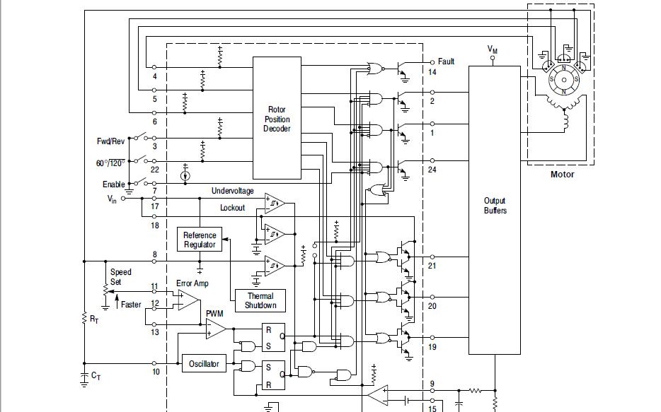 MC33035和NCV33035无刷直流电机控制器的数据手册免费下载