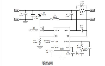 FP7195外置N-MOSFET的LED驱动IC数据手册免费下载