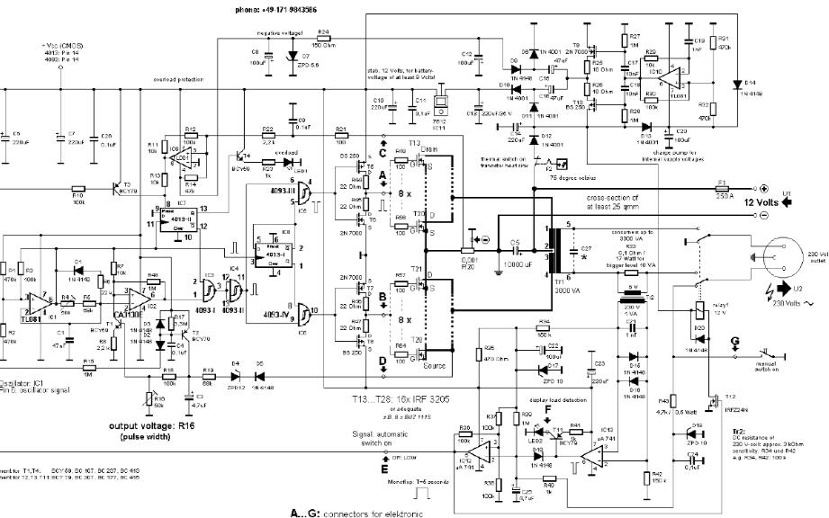 3000VA UPS电源电路原理图免费下载