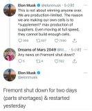 因为芯片短缺,特斯拉的加州工厂宣布停产