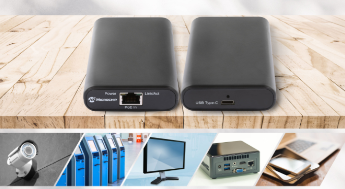 Microchip发布首款IEEE? 802.3bt以太网供电USB Type-C?电源和数据适配器