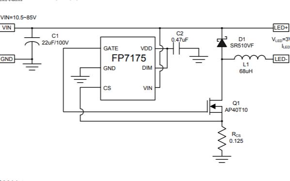 FP7175降压恒流LED驱动IC的数据手册免费下载