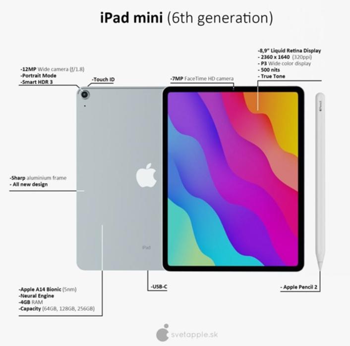 苹果春季新品iPad mini 6亮点汇总