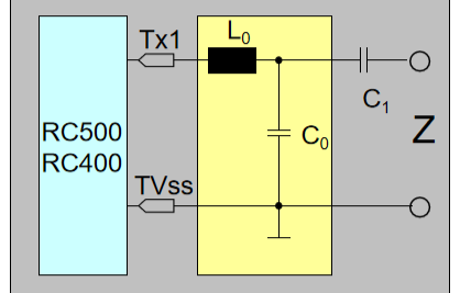 用于MF RC500和SL RC400的EMC滤波器和阻抗匹配