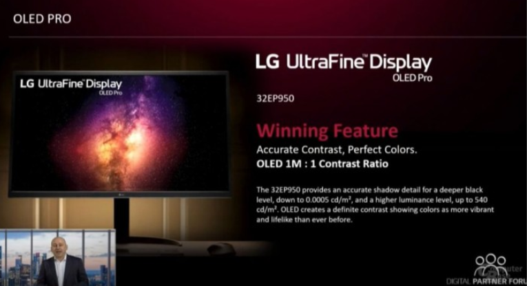 LG将推全球首款32寸OLED 4K显示器