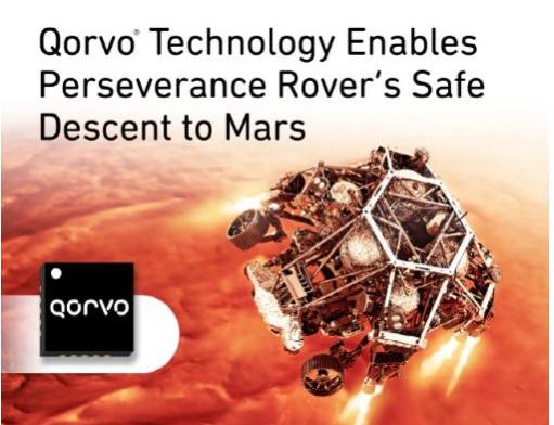 Qorvo?技术助力毅力号火星探测器安全着陆