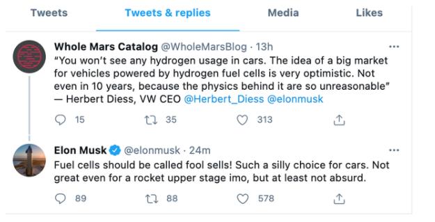 马斯克称燃料电池是智商税 这话是否具有权威性?