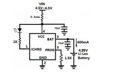 HM4054D线性锂离子电池充电器的规格手册免费下载