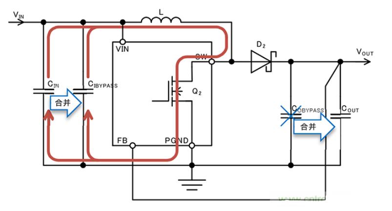 开关晶体管Q2 ON和OFF时的电流路径分析