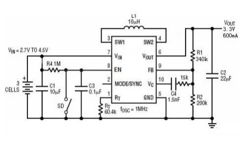 HM3440同步DCDC调节器芯片的数据手册免费下载