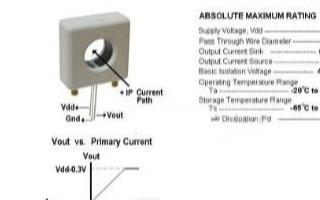 基于HY16F198和霍尔传感器实现电流数值测量...