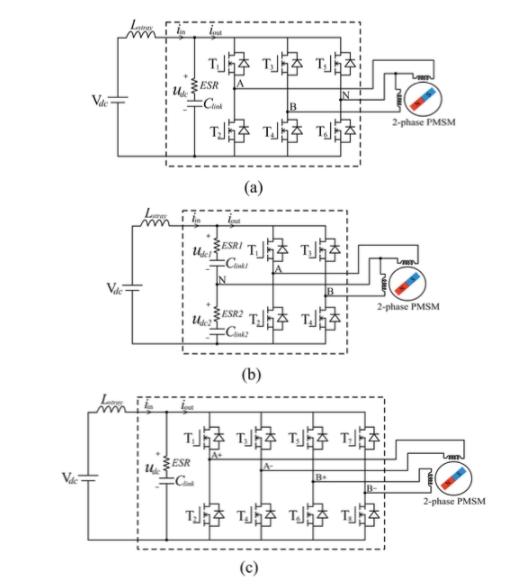 两相电压源逆变器的三种不同方案