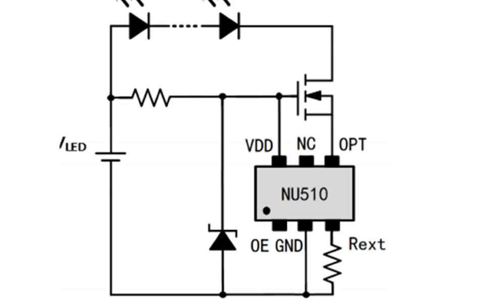 NU510恒流LED驱动芯片的调光双色温应用详解
