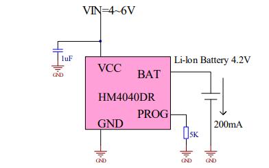 HM4040DR线性锂离子电池充电器的数据手册免费下载