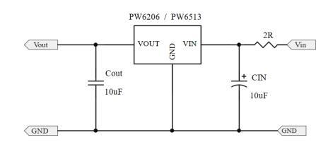 24V转5V,转3.3V稳压芯片的电路图