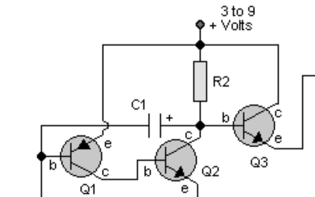 尋跡發射器的電路原理圖免費下載
