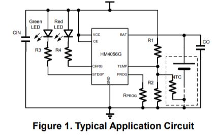 HM4056G獨立線性熱調節鋰離子電池充電器的數據手冊免費下載