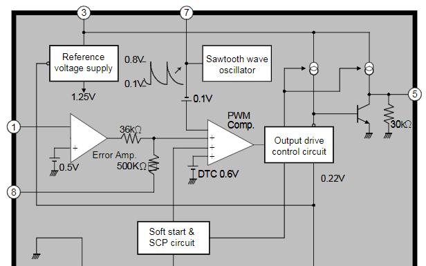 光电开关调节器或控制装置芯片HM3800