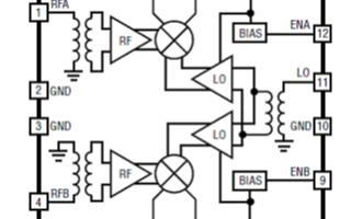 双路有源下变换混频器LTC5569主要特性及应用电路