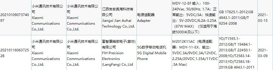 小米67W充电器通过3C认证入网 OPPO将在四...