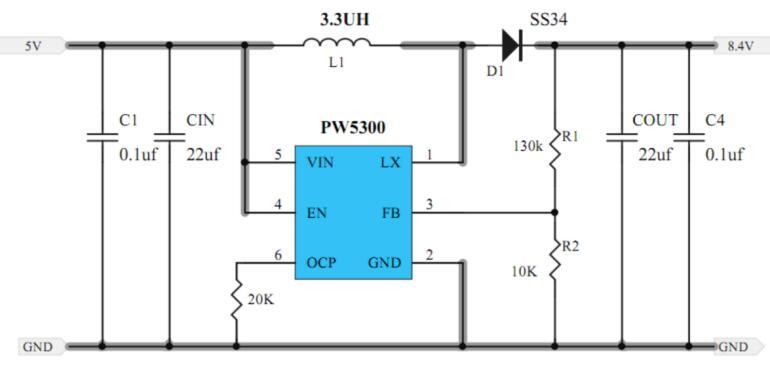 双节7.4V锂电池充电管理IC和电路图