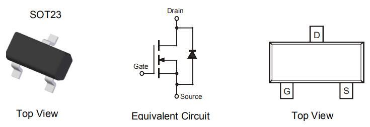 N通道增强模式场效应MOSFET