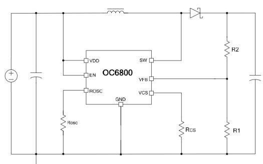 专为升压、升降压开关电源设计的DC-DC芯片OC6800