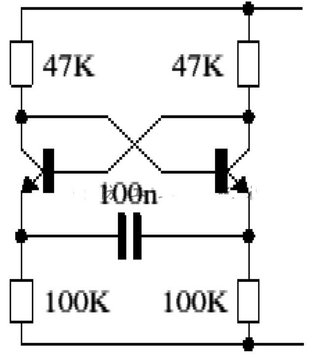 发射极耦合式多谐振荡器电路图