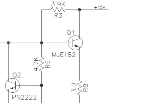 使用运放组成的音频信号缓冲放大器电路原理图