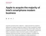 苹果花费10亿美元收购英特尔的基带业务