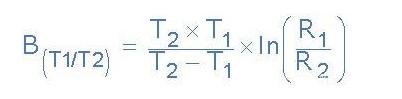 热敏电阻方程式,热敏电阻B值计算示例