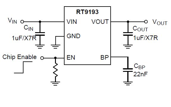 RT9193超快CMOS LDO稳压器的数据手册免费下载