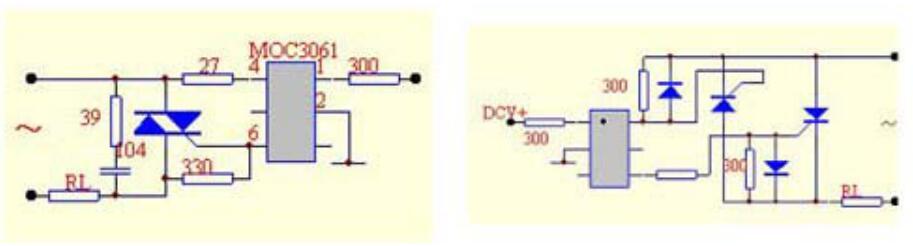 过零触发双硅输出光耦MOC3061的应用