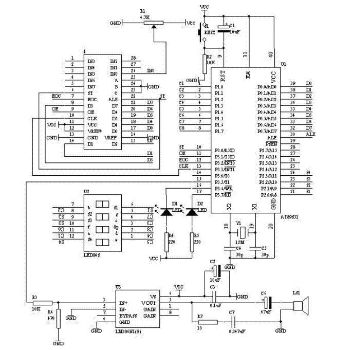 单片机AT89S51与ADC0809设计数字电压表