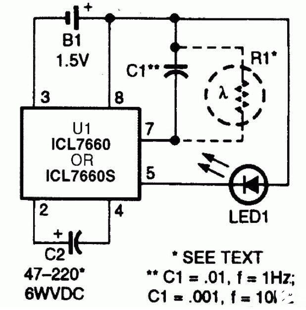 LED闪光器电路图及制作方法