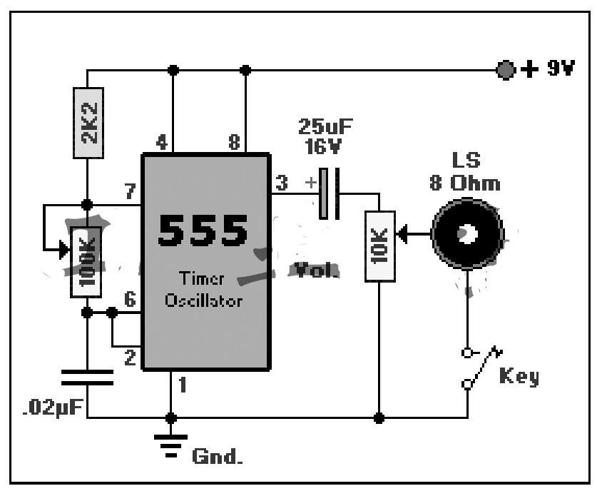 555组成的载波振荡器电路