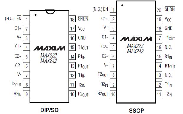 MAX220和MAX249系列线驱动器和接收器的数据手册免费下载