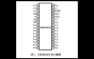 8位高性價比單片機EM78P447S的主要性能特點及應用