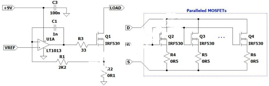 如何使用運算放大器構建電流負載?