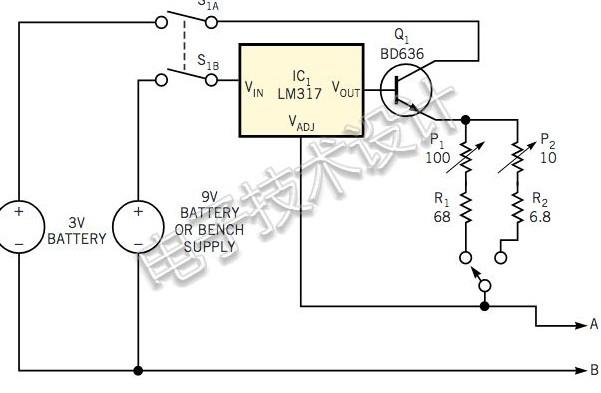 如何使用稳压器IC制作毫欧表?