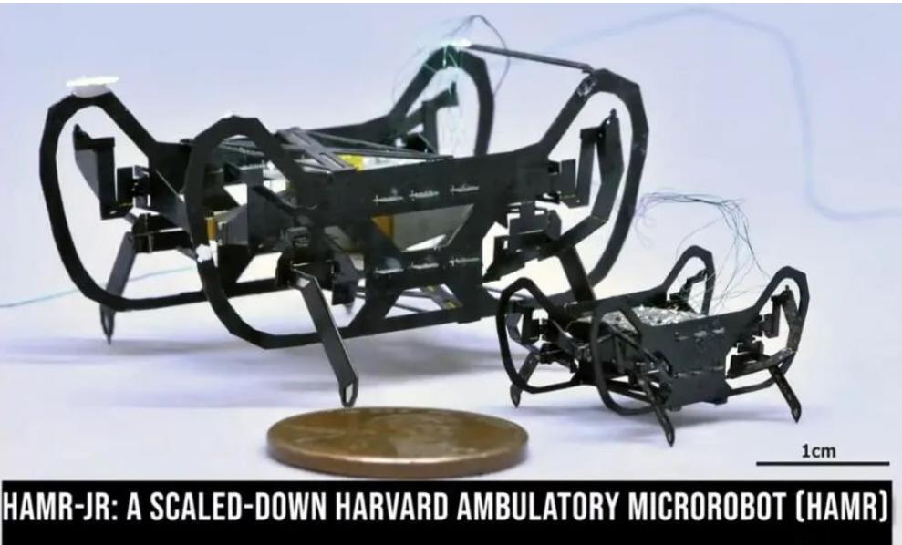 """哈佛大學巧妙運用""""印刷電路+MEMS""""工藝打造微型機器人"""