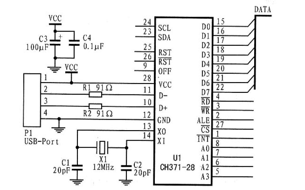 USB总线接口芯片CH371及其应用
