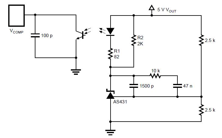 使用AS431的二次侧误差放大器
