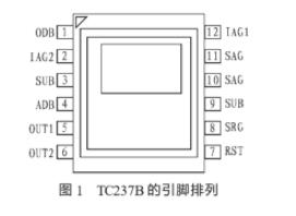 CCD图像传感器TC237B的主要特点、引脚功能及应用
