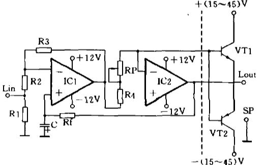 用采C型磁芯级间变压器的36W胆石混合音频功率放大器