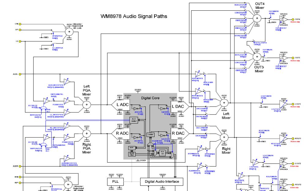 WM8978G带扬声器驱动程序的立体声编解码器的数据手册免费下载