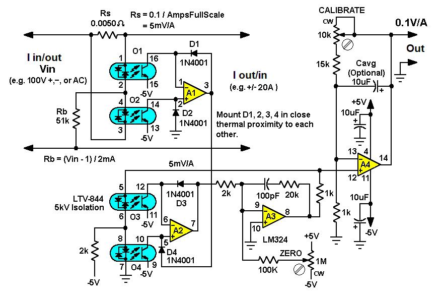 基于感测电流串联放置IR电压的光隔离双极电流检测设计方案